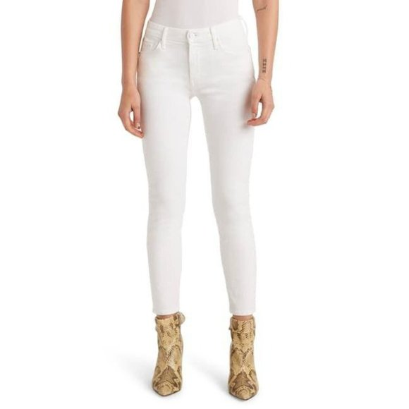 Mother The Looker Jeans in Cream for a Day Size 25